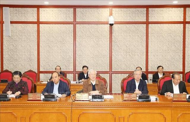 Chùm ảnh Tổng Bí thư, Chủ tịch nước chủ trì họp Bộ Chính trị  - Ảnh 2.