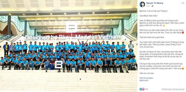 CEO BKAV Nguyễn Tử Quảng: Cảm động trước tình cảm của Bfan, Bphone 4 sẽ ra mắt vào tháng 3 tới - Ảnh 2.