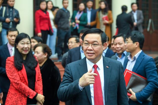ẢNH: Toàn cảnh lễ nhận quyết định Bí thư Thành ủy Hà Nội của Phó Thủ tướng Vương Đình Huệ - Ảnh 14.