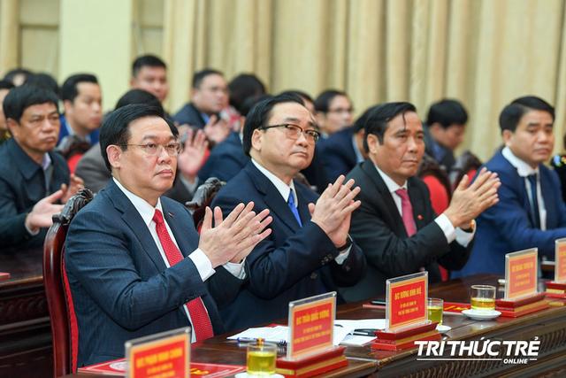 ẢNH: Toàn cảnh lễ nhận quyết định Bí thư Thành ủy Hà Nội của Phó Thủ tướng Vương Đình Huệ - Ảnh 5.
