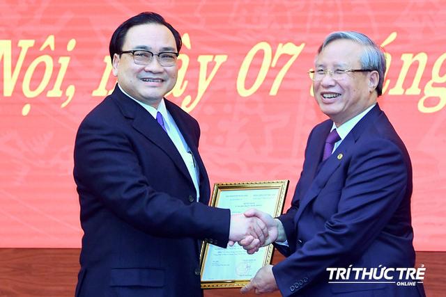 ẢNH: Toàn cảnh lễ nhận quyết định Bí thư Thành ủy Hà Nội của Phó Thủ tướng Vương Đình Huệ - Ảnh 6.
