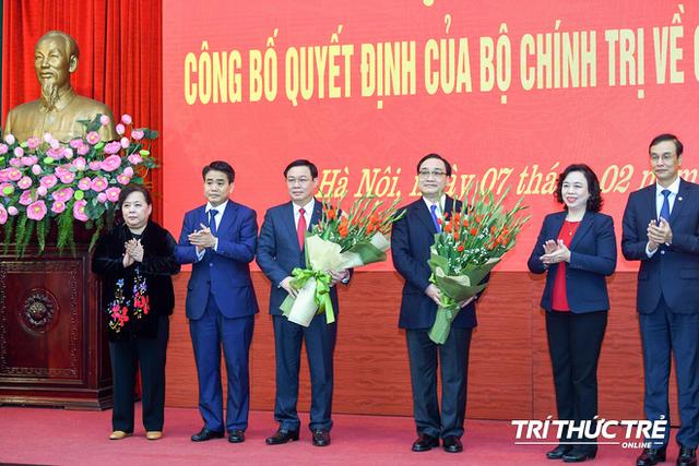 ẢNH: Toàn cảnh lễ nhận quyết định Bí thư Thành ủy Hà Nội của Phó Thủ tướng Vương Đình Huệ - Ảnh 9.