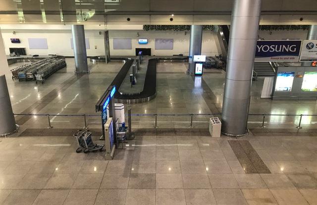 Người dân mặc đồ bảo hộ kín mít ra sân bay, ga quốc tế Tân Sơn Nhất hoang vắng lạ thường - Ảnh 4.