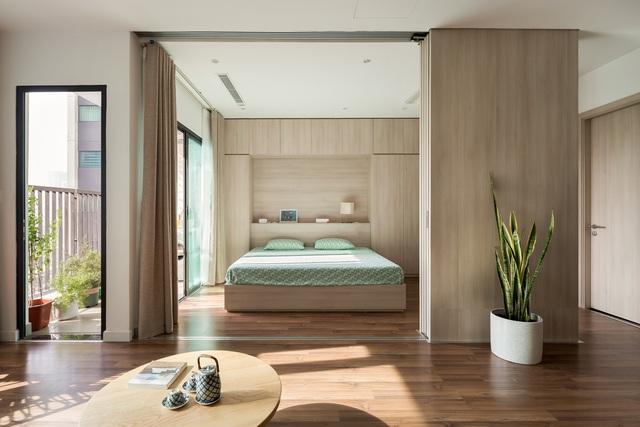 Căn hộ đặc biệt ở Hà Nội có những bức tường di chuyển - Ảnh 2.