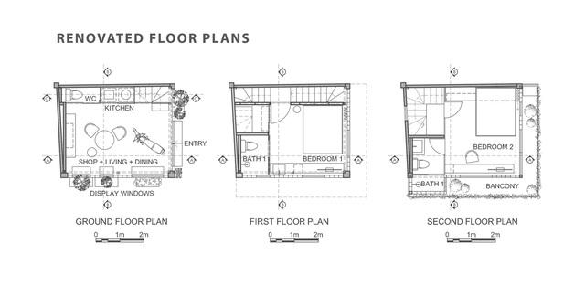 Nhà 18 m2 vẫn đủ công năng sau khi bỏ toàn bộ tường gạch - Ảnh 2.