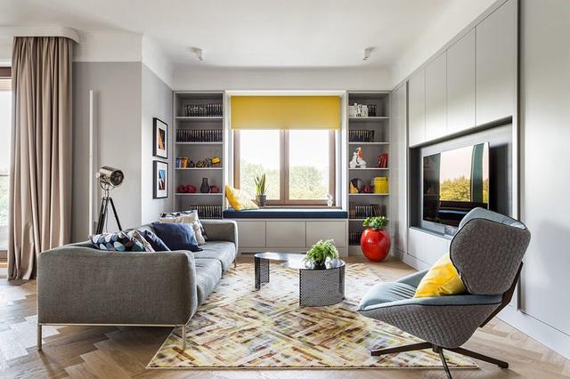 Ngôi nhà trang trí nội thất màu xanh và vàng lạ mắt - Ảnh 1.  Ngôi nhà trang trí nội thất màu xanh và vàng lạ mắt photo 1 1585214999919766864984