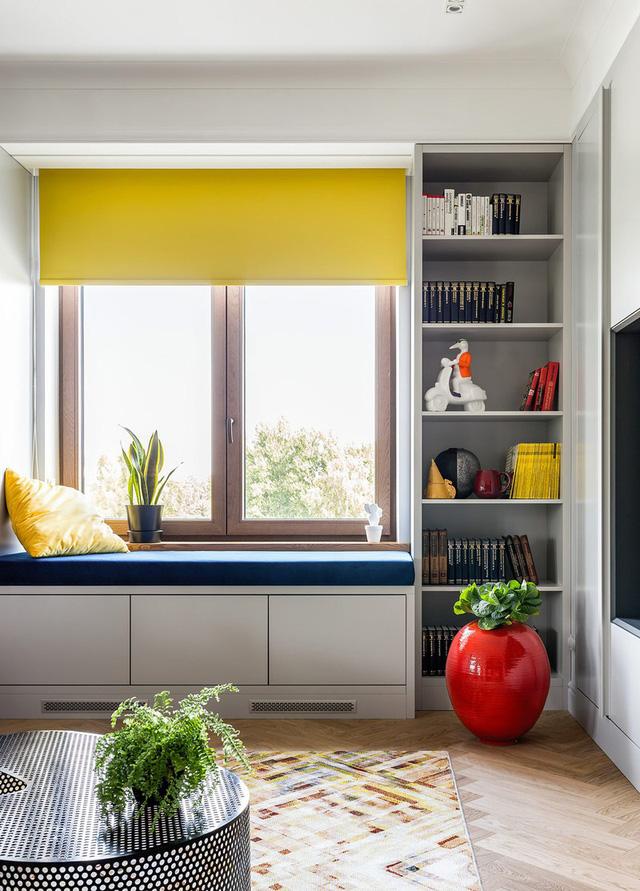 Ngôi nhà trang trí nội thất màu xanh và vàng lạ mắt - Ảnh 2.  Ngôi nhà trang trí nội thất màu xanh và vàng lạ mắt photo 1 15852150032761413007522