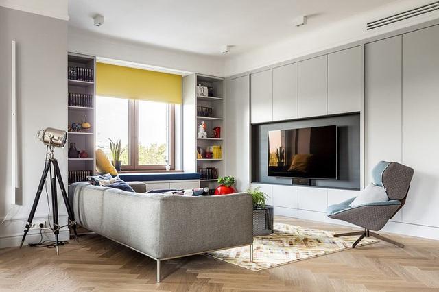 Ngôi nhà trang trí nội thất màu xanh và vàng lạ mắt - Ảnh 3.  Ngôi nhà trang trí nội thất màu xanh và vàng lạ mắt photo 2 1585215003278625172665