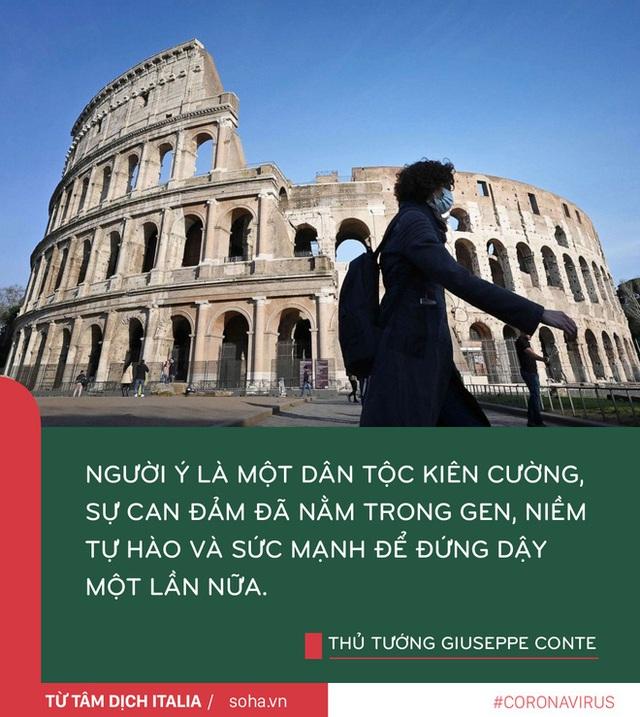 Thông điệp của Thủ tướng Ý từ tâm dịch: Chúng ta không được sợ hãi mà cần có can đảm và niềm tin - Ảnh 3.