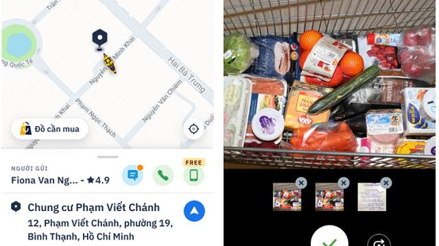 Xe ôm công nghệ tích hợp thêm dịch vụ đi chợ hộ cực tiện ích, chị em chỉ ngồi một chỗ vẫn mua được thực phẩm tươi ngon - Ảnh 2.