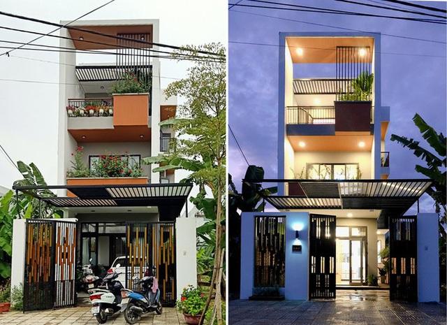 Nhà phố 3 tầng lấy gió và sáng có thiết kế ấn tượng - Ảnh 1.