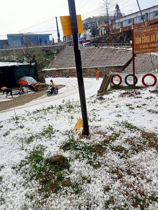 Mưa đá rơi trắng trời, trắng đất ở Lai Châu - Ảnh 12.