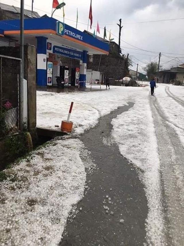 Mưa đá rơi trắng trời, trắng đất ở Lai Châu - Ảnh 7.