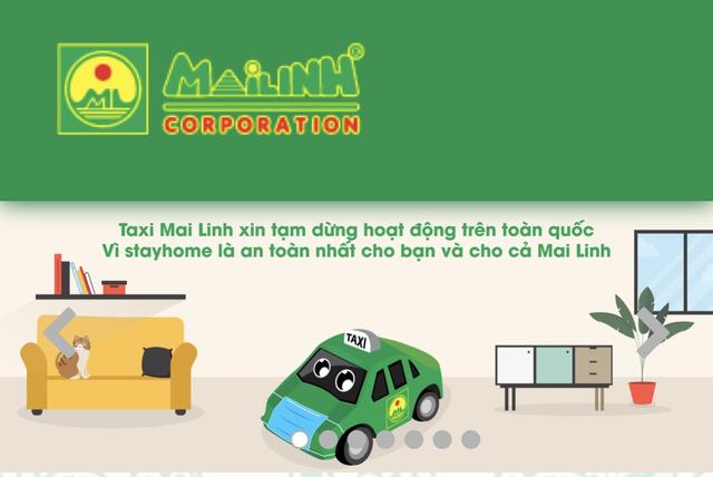 Grab, be, Mai Linh Taxi đồng loạt phát thông báo dừng vận chuyển khách, các dịch vụ giao đồ ăn, giao hàng vẫn được duy trì - Ảnh 1.