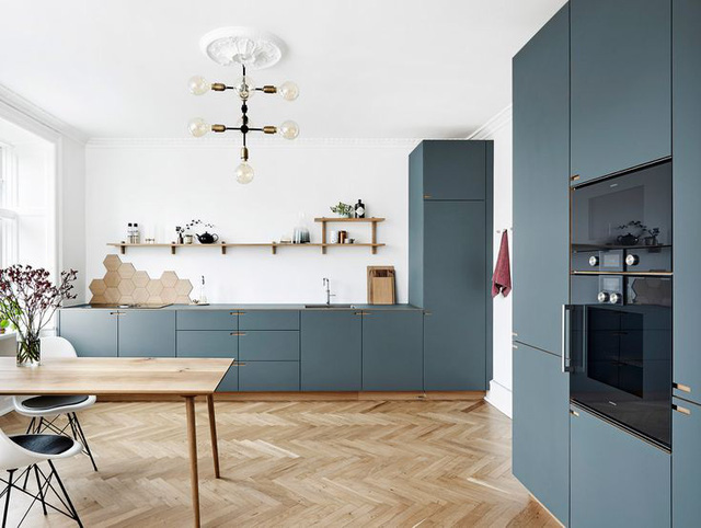 12 thiết kế căn bếp hiện đại đẹp sang trọng và gọn gàng - Ảnh 1.
