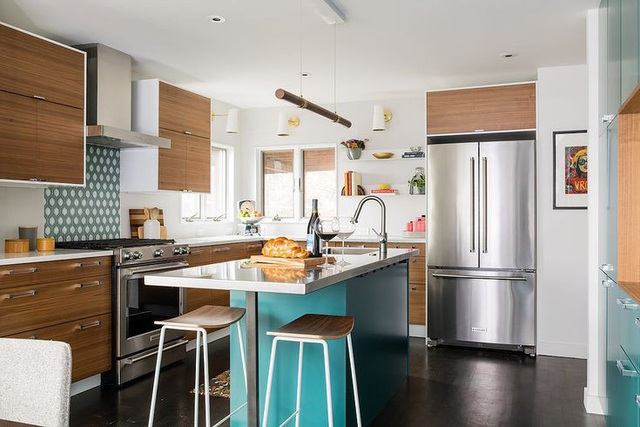 12 thiết kế căn bếp hiện đại đẹp sang trọng và gọn gàng - Ảnh 3.