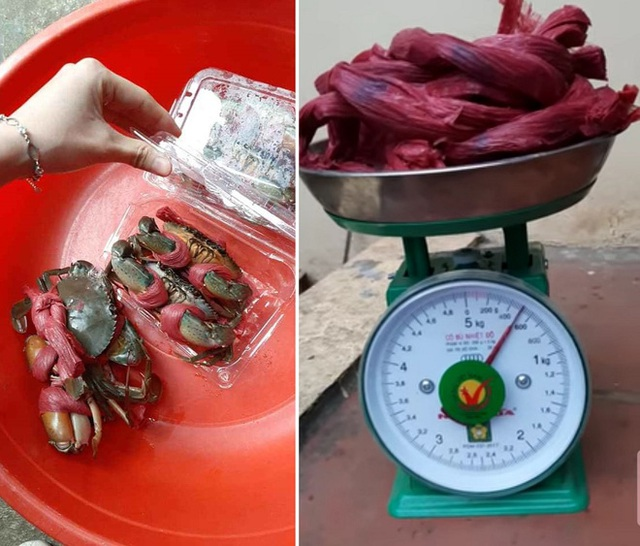 Mua 2,5kg cua biển, được tính tiền 2kg, sững sờ phát hiện dây buộc cua nặng 1,9kg - Ảnh 1.