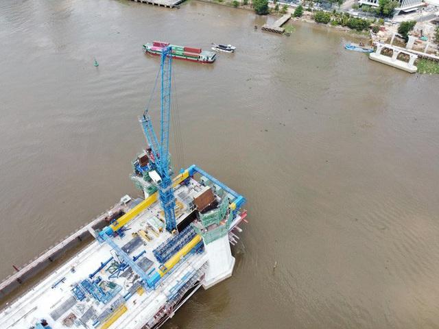 Nhìn từ trên cao, công trình cầu Thủ Thiêm 2 hiện thế nào?  - Ảnh 5.