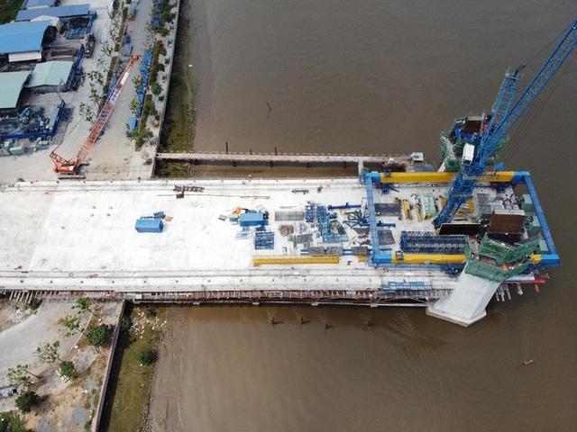 Nhìn từ trên cao, công trình cầu Thủ Thiêm 2 hiện thế nào?  - Ảnh 9.