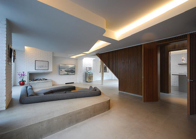 Không gian độc đáo của ngôi nhà có phòng khách được thiết kế chìm - Ảnh 2.