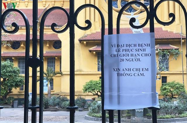 Ảnh: Nhà thờ ở Hà Nội vắng lặng dịp Lễ Phục sinh, tổ chức trực tuyến tránh Covid-19 - Ảnh 5.