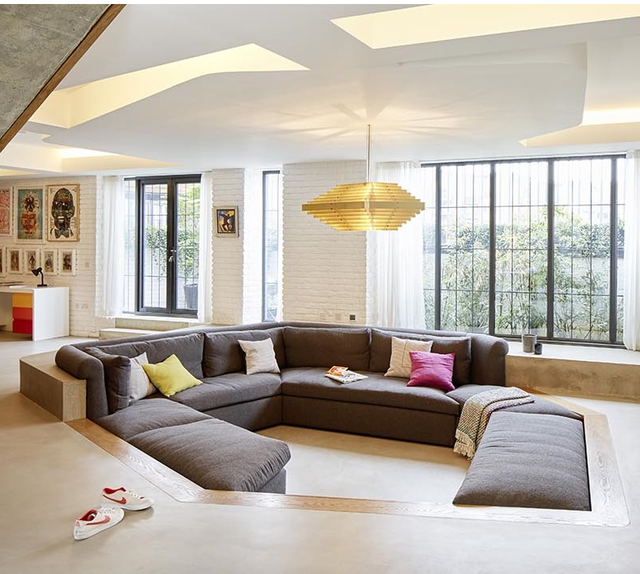 Không gian độc đáo của ngôi nhà có phòng khách được thiết kế chìm - Ảnh 5.