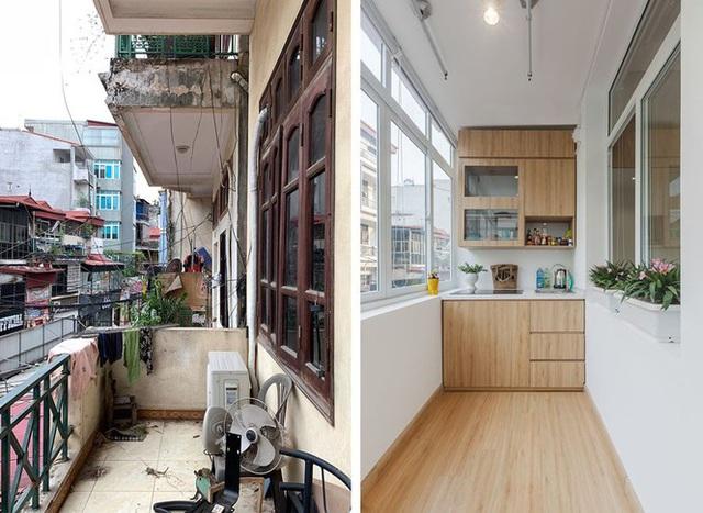 Nhà ống 3 tầng lột xác sau cải tạo, ban công thành khu bếp tuyệt đẹp - Ảnh 1.