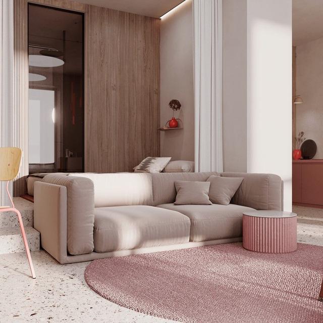 Căn hộ sành điệu với gam màu hồng đơn sắc - Ảnh 2.
