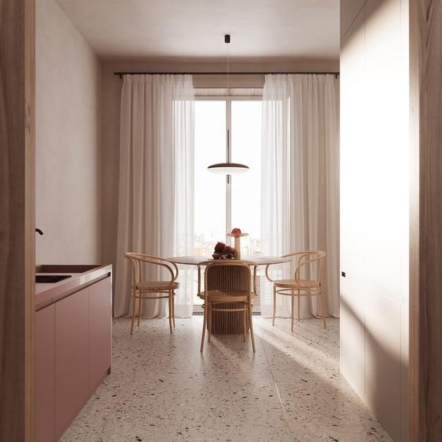 Căn hộ sành điệu với gam màu hồng đơn sắc - Ảnh 3.
