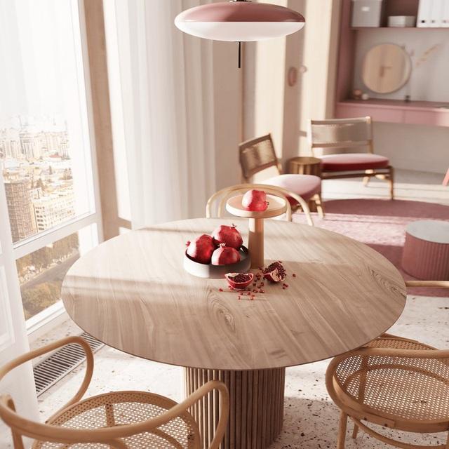 Căn hộ sành điệu với gam màu hồng đơn sắc - Ảnh 4.