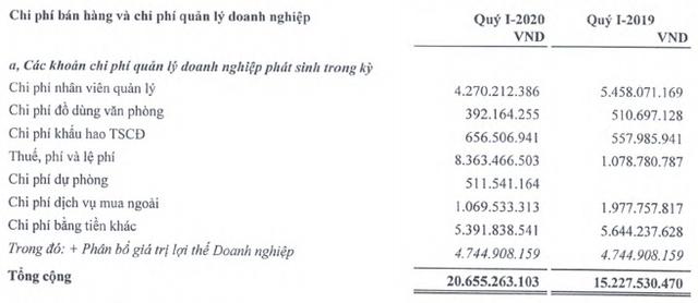 DAP – VINACHEM (DDV): Quý 1/2020 báo lỗ 6 tỷ đồng - Ảnh 2.