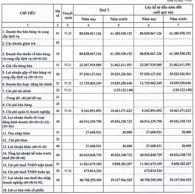 Nhờ dự án KDC Lộc An, D2D báo lãi 49 tỷ đồng quý 1, tăng 25% so với cùng kỳ - Ảnh 1.