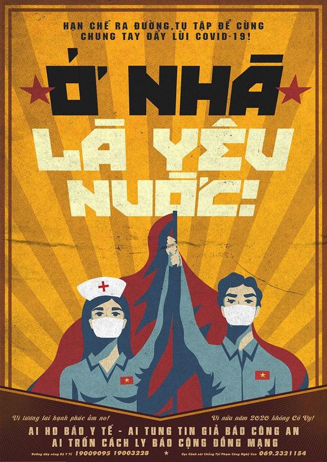 Chàng trai Việt bán poster chống dịch Ở nhà là yêu nước, đóng góp cho ATM gạo giúp người nghèo vượt đại dịch Covid-19 - Ảnh 1.