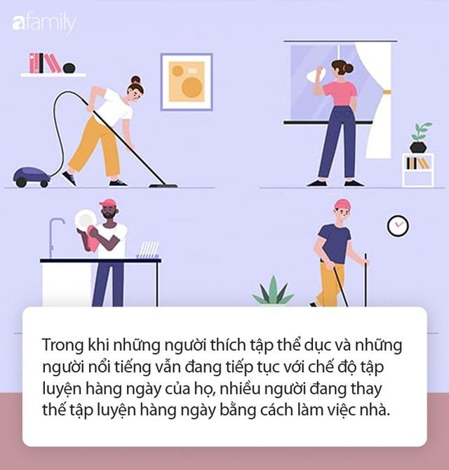 7 công việc tại gia nếu bạn cứ làm đều đặn trong khoảng thời gian giãn cách xã hội thì sẽ giúp duy trì sức khỏe thể chất lành mạnh không khác gì tập gym - Ảnh 1.