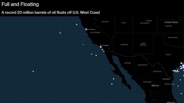 Bloomberg: Gần 250 triệu thùng dầu đang trôi nổi trên biển không có đích đến, chờ đợi người mua trong vô vọng - Ảnh 1.