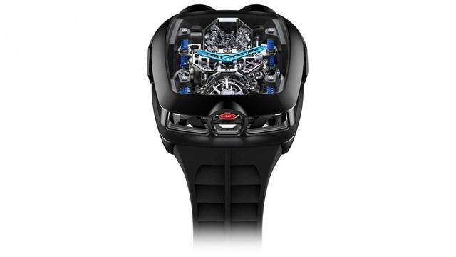 Đồng hồ Bugatti Chiron Tourbillon đặc biệt được trang bị động cơ nhỏ W16 - Ảnh 2.