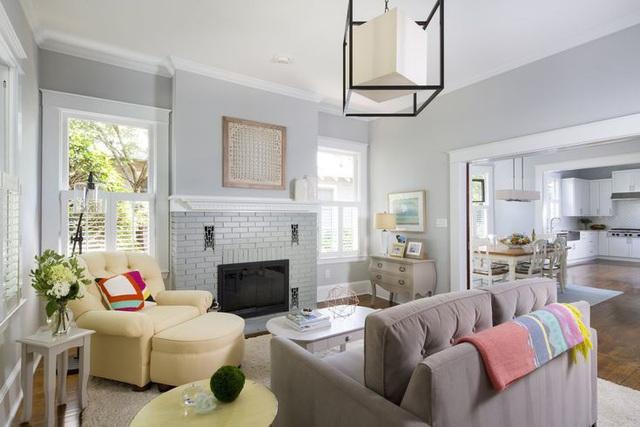 Những căn phòng đẹp sang trọng với sơn tường màu xám - Ảnh 2.