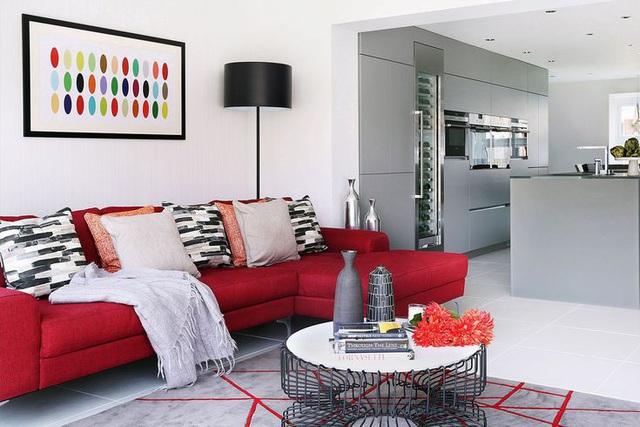 Những căn phòng đẹp sang trọng với sơn tường màu xám - Ảnh 4.