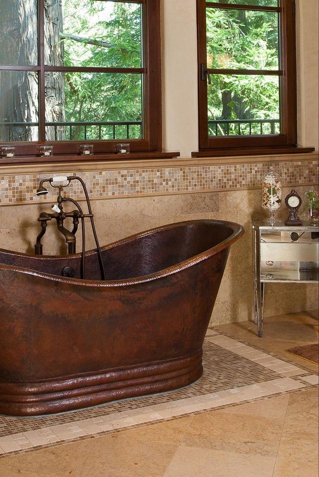 Phòng tắm sang trọng, hiện đại hơn với bồn oval đơn sắc - Ảnh 8.
