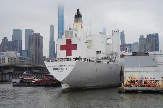 Tàu bệnh viện 1.000 giường tới New York nhưng không chữa cho người mắc Covid-19