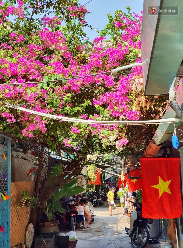 Ảnh: Ngắm một Sài Gòn yên bình trong sáng 30/4, mọi tuyến đường, góc phố phấp phới cờ hoa - Ảnh 12.