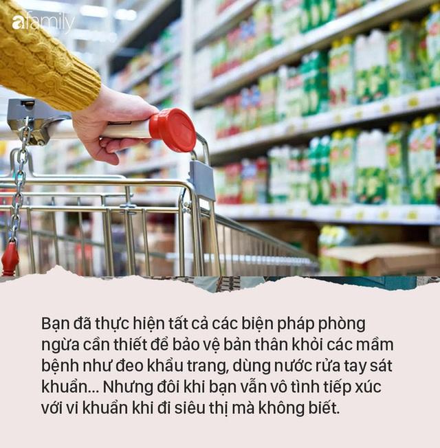 4 điều cần lưu ý khi đi mua sắm trong siêu thị để tránh nhiễm virus, vi trùng và các mầm bệnh khác - Ảnh 1.