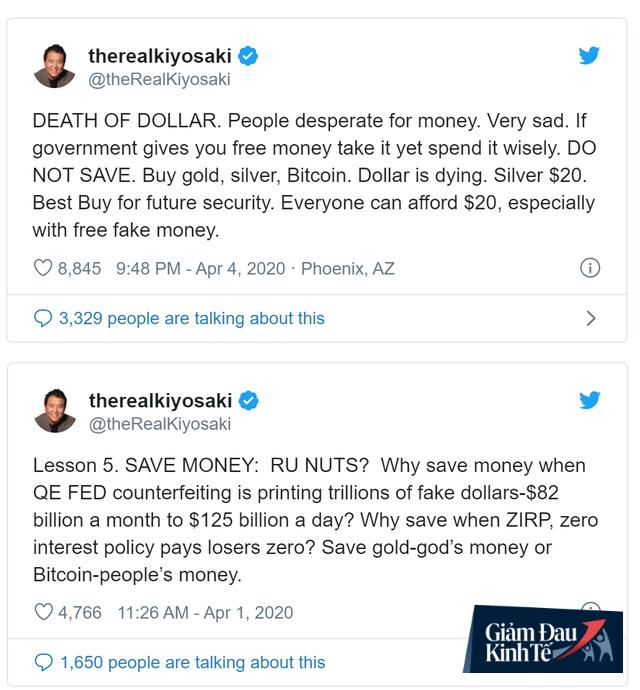 Cha giàu, Cha nghèo Robert Kiyosaki khuyên nhà đầu tư hãy mua mạnh vàng, bạc và bitcoin - Ảnh 1.