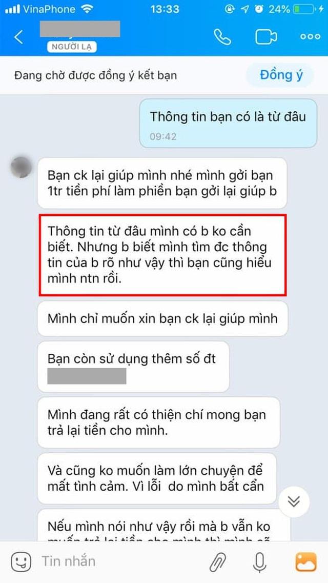 Chuyển nhầm 30 triệu qua tài khoản Vietcombank của người lạ rồi truy SĐT để nhắn tin như đòi nợ: Dân mạng bất bình, ngân hàng lên tiếng - Ảnh 1.