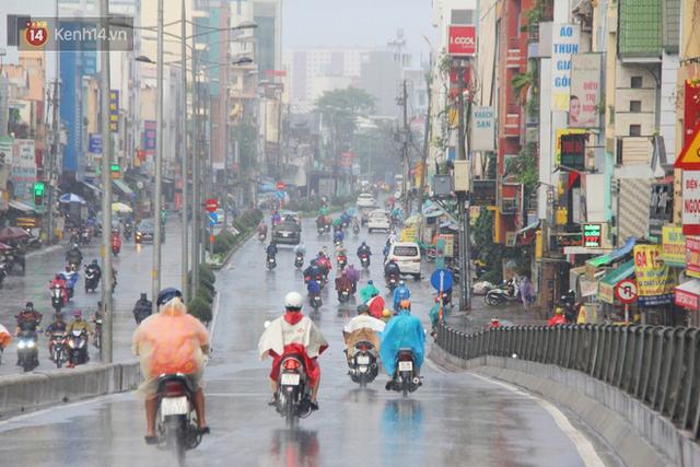 Ảnh: Cơn mưa vàng xối xả giải nhiệt cho Sài Gòn từ sáng sớm, chấm dứt chuỗi ngày nắng nóng kinh hoàng - Ảnh 2.