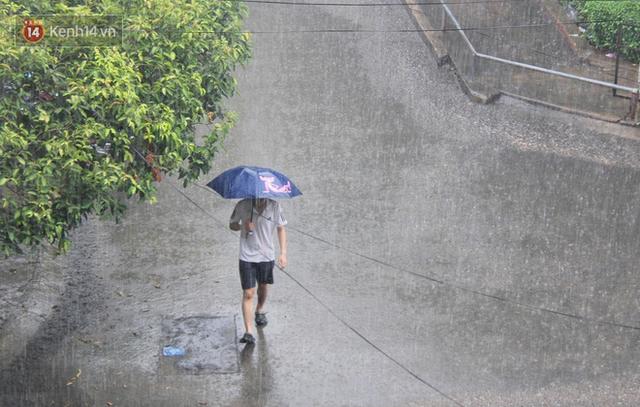 Ảnh: Cơn mưa vàng xối xả giải nhiệt cho Sài Gòn từ sáng sớm, chấm dứt chuỗi ngày nắng nóng kinh hoàng - Ảnh 14.