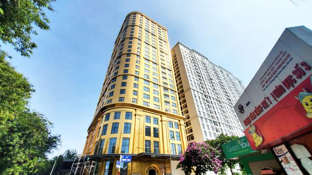 Ngắm tòa nhà dát vàng 24K từ chân đến nóc khủng nhất Hà Nội đang hoàn thiện - Ảnh 2.