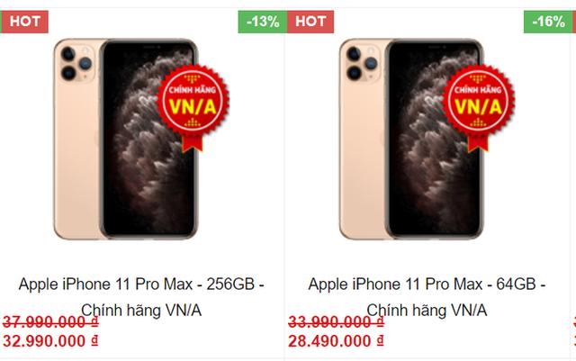Lần hiếm hoi các mẫu điện thoại iPhone chính hãng được giảm giá đồng loạt - Ảnh 2.