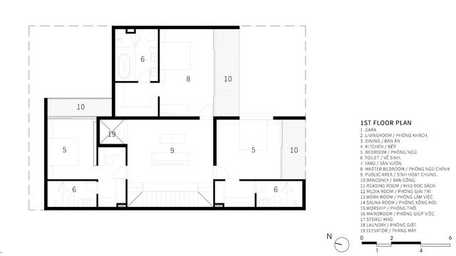 Căn biệt thự 4 tầng, rộng mênh mông ở Đà Nẵng - Ảnh 12.