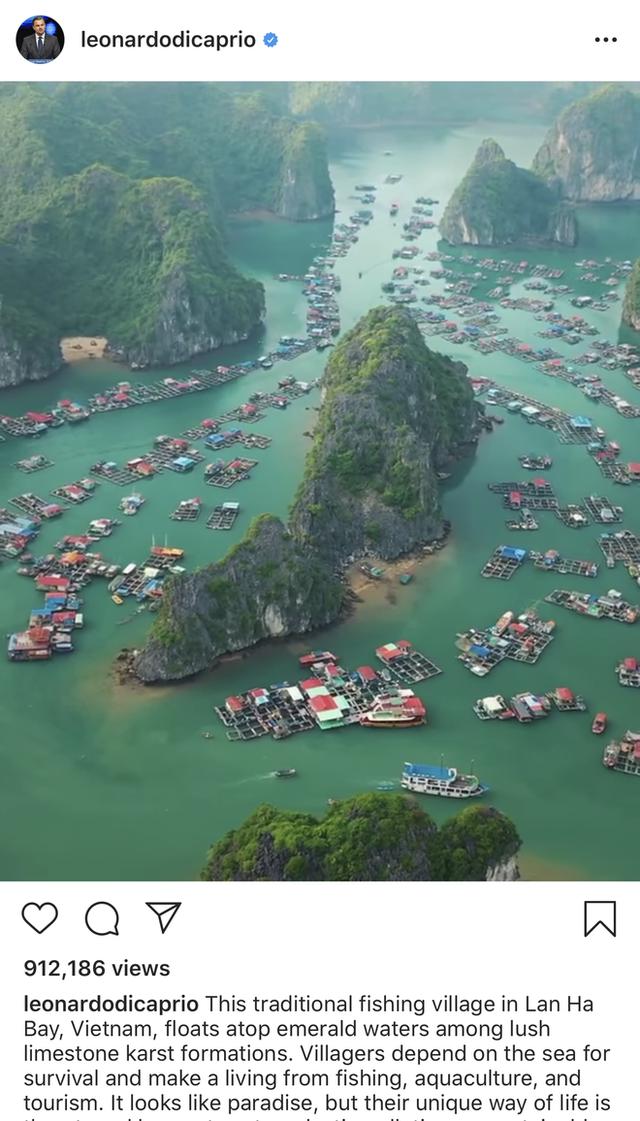 Leonardo DiCaprio chia sẻ hình ảnh vịnh Lan Hạ của Việt Nam trên Instagram, còn kêu gọi mọi người bảo vệ vẻ đẹp của nơi này - Ảnh 1.